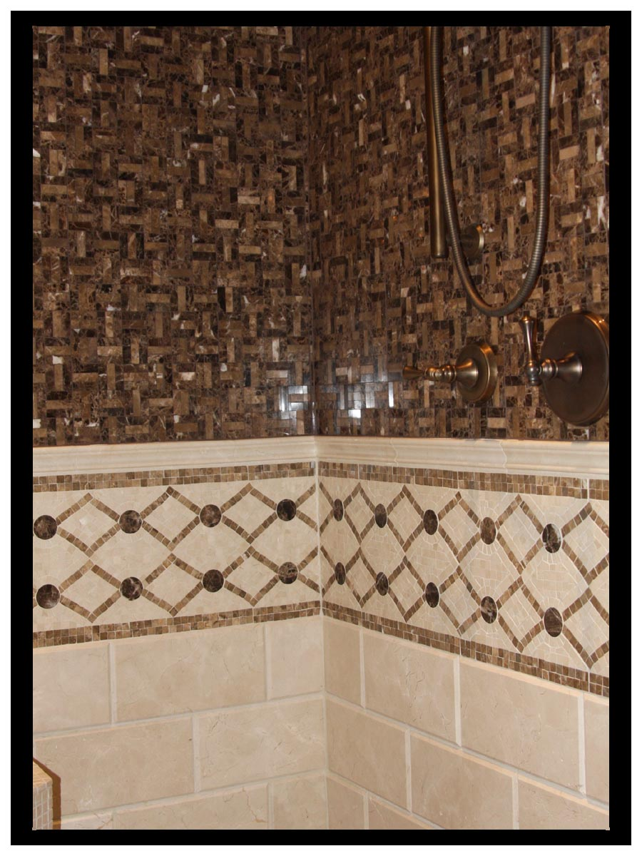 PB Custom Mosaic Shower